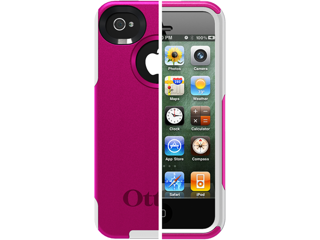 OtterBox Commuter Series Strength Case f/iPhone 4/4S - AVON Hot Pink/White