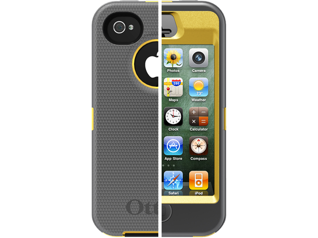 OtterBox Defender Series f/iPhone 4/4S - Sun Yellow/Gunmetal Grey