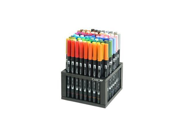 Tombow Full Set 96 Assorted Pe Dual Brush Fine Tip Set & Stan