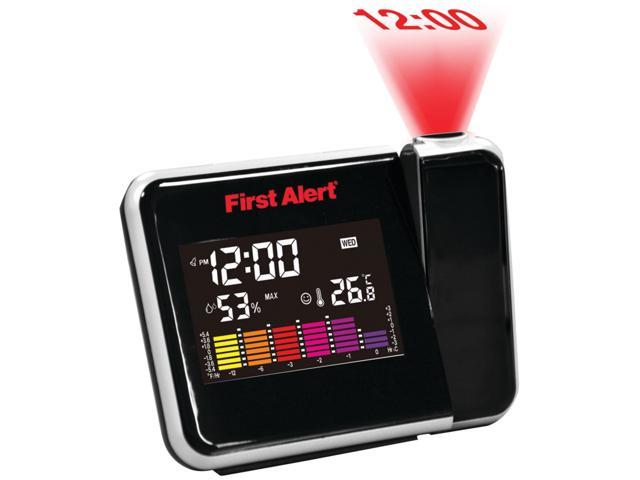FIRST ALERT FA-2200 Weather Station Projection Alarm Clock