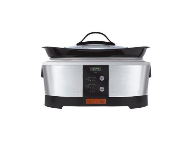 Crock-Pot 6-Quart Programmable Brushed Stainless Steel Slow Cooker