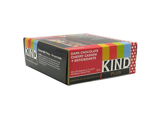Kind Plus Dark Chocolate Cherry Cashew + Antioxidants 12 bars