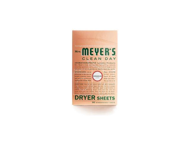 Mrs. Meyer's Dryer Sheets Geranium 80 Sheets