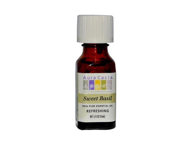 Aura Cacia Pure Essential Oil Sweet Basil 0.5 fl oz