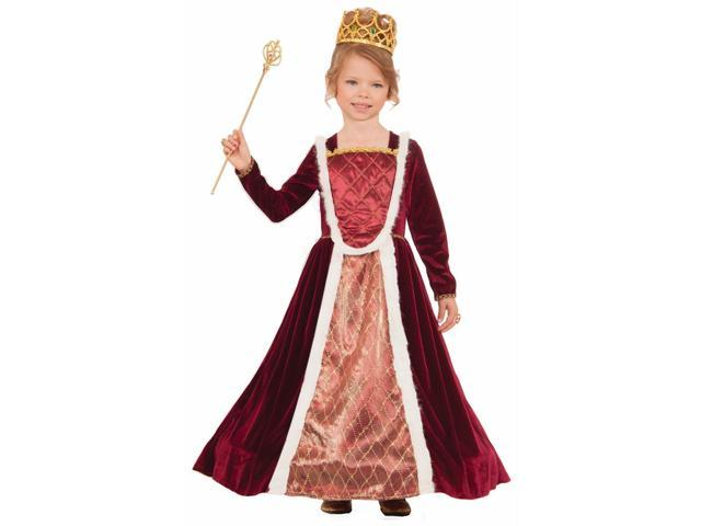 Royal Medieval Queen Costume Small Child
