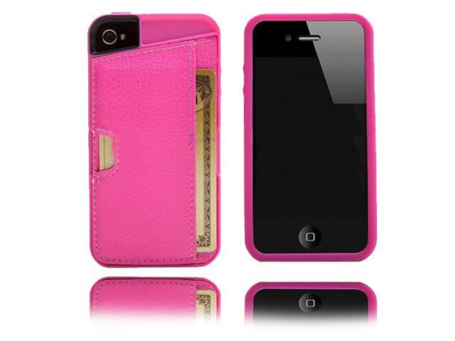 OEM (CM4) Q4 Pink-Wallet Case Cover for Apple iPhone 4 4S 4Gen-Retail Packaging