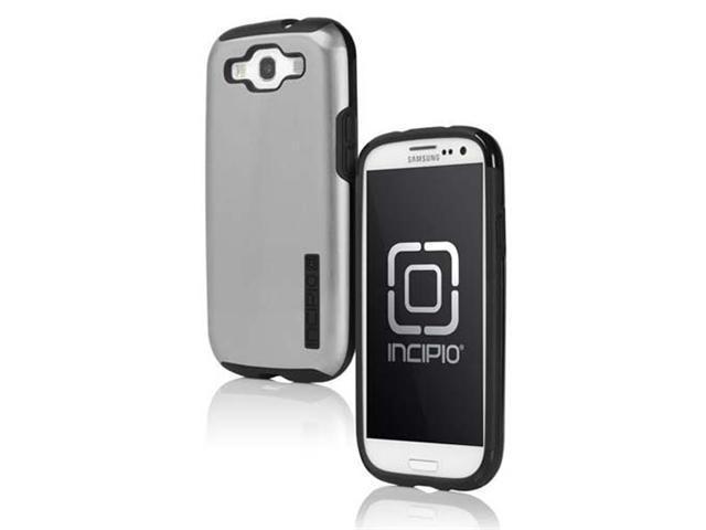 Incipio SA-310 SILICRYLIC DualPro Hard Sheel Shine Case for Samsung Galaxy S3 III- Silver/Black