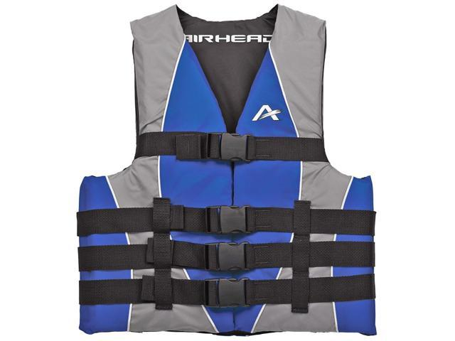 Airhead Closed Sided Adult Nylon Life Vest Blue SM/MD