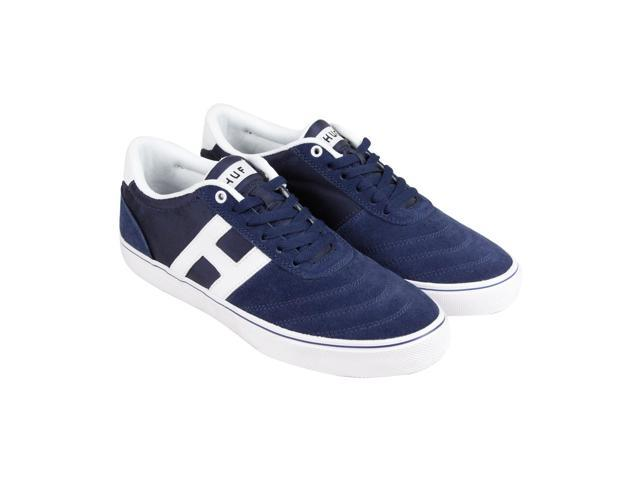 HUF Galaxy Navy White Mens Lace Up Sneakers