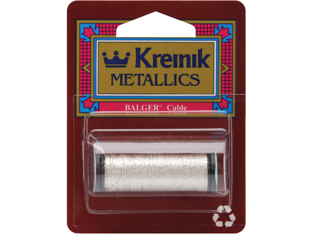 Kreinik Metallic Cable 3 Ply 10 Meters (11 Yards)-Silver