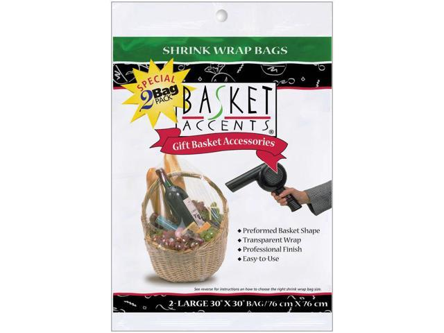 Basket Accents Shrink Wrap Bags Large 30