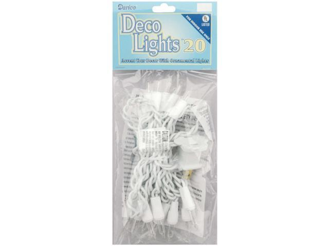 Deco Lights 20 Count 8'-Clear Bulbs W/White Wire