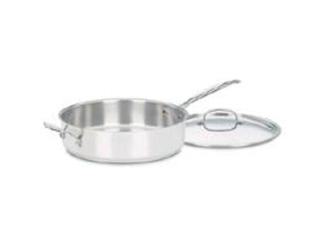 Cuisinart/Waring 733-30H Saute Pan 5-1/2-Inch -Quart With Cover Stainless Steel