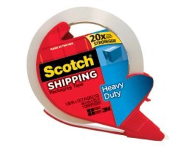 3m 1.88in. x 38.2in. Clear Scotch Packaging Tape With Dispenser  3850S-RD