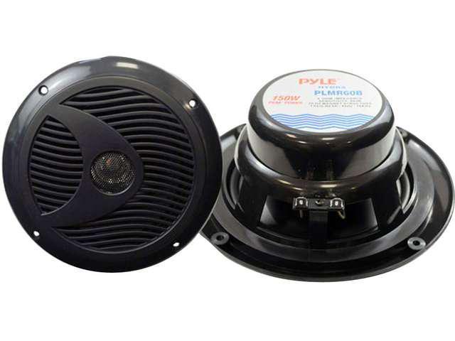 "Pyle Plmr60b 6.5"" Dual Cone Marine Speakers (Black)"