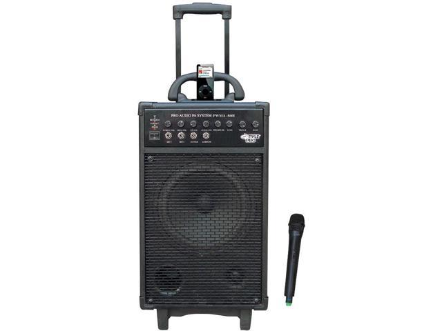 PYLE PWMA860I 500W VHF Wireless Portable PA System -Echo with Ipod Dock