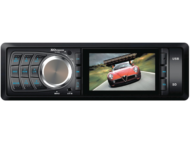 """XO Vision 3"""" DVD Receiver with Fully Detachable Face USB/SD and AV Inputs Model XO1962"""