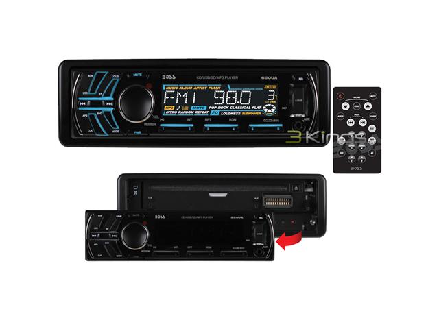 Boss 650Ua 240W Lcd In Dash Cd/Mp3 Usb/Sd Aux Car Audio Player Reciever Stereo