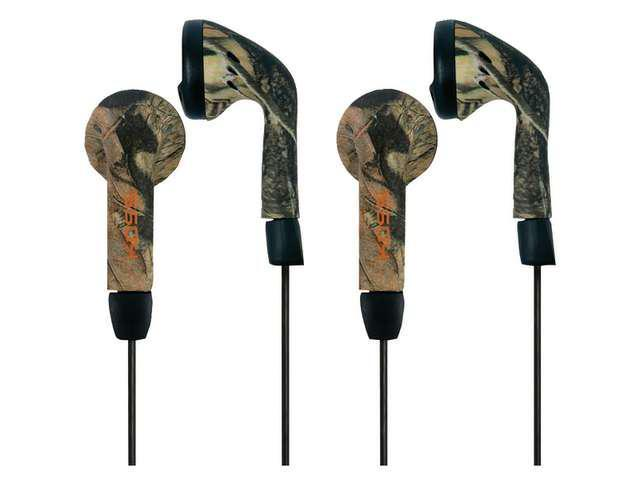 KOSS 183054 Traditional Mossy Oak Stereophone Earbuds, 2 pk (Green)
