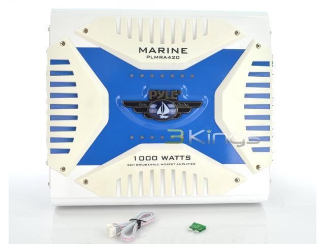 4 Channel 1000 Watt Waterproof Marine Bridgeable Mosfet Amplifier