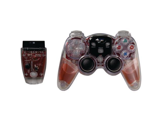 DREAMGEAR DGPN-525 PlayStation(R)2 Lava Glow Wireless Controller (Red)