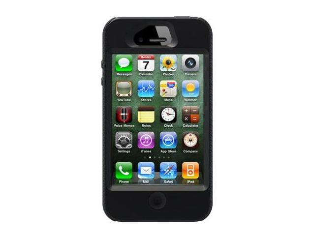 OtterBox Impact Silicone Case Cover Skin for Apple Iphone 4 and 4S Black with Self-Adhering Screen Protector Fits All Carriers Brand New in Retail Box 77-18694