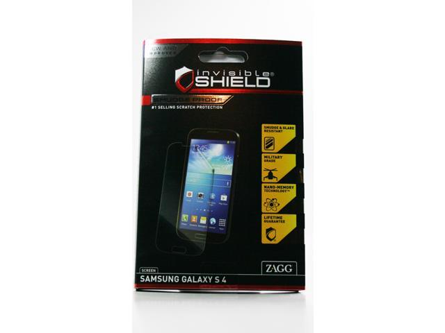 Zagg InvisibleShield Smudge Proof Screen Protector for Samsung Galaxy S4 S 4 SIV MPN: SM2SAMGALS4S UPC: 843404093908