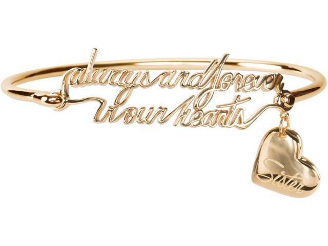 Light Your Way Memorial - Always and Forever In Our Hearts - Sister - Gold Bangle Bracelet In Memory