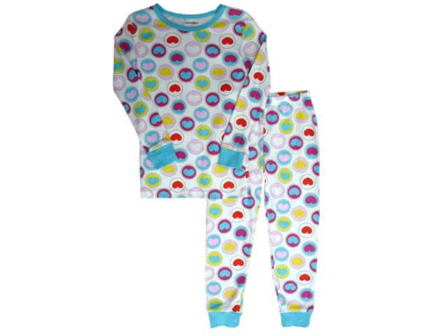 babies r us toddler girls heart print sleepwear set valentines day pajamas 4t - Valentines Day Pajamas