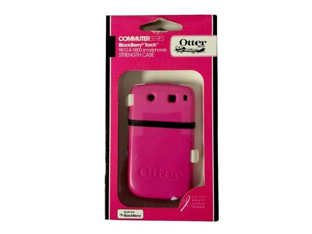 Otterbox RBB4-9810S-44-E4AVN Commuter Series Hybrid Case for BlackBerry 9800 Torch - 1 Pack - Retail Packaging - Pink/White