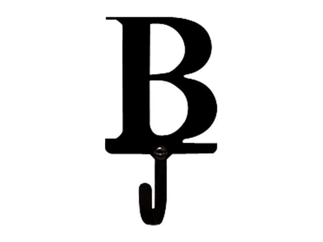 Village Wrought Iron WH-B-S Letter B Wall Hook Small