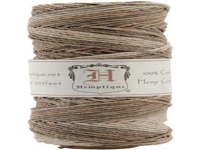 Hemp Variegated Cord Spool 20lb 205'-Earthy