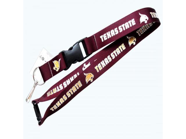 Texas State Bobcats Clip Lanyard Keychain Id Holder