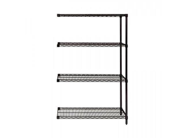 Quantum Storage System Add-on Kit for 4-Shelf Wire Shelving Unit 18
