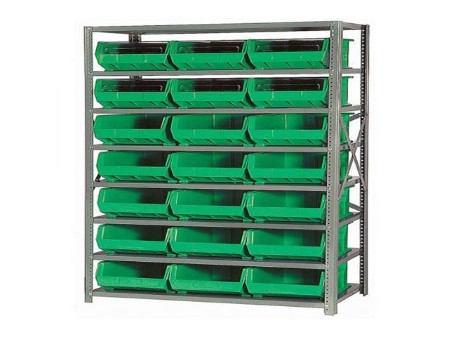 Quantum 8 Shelf Giant Open Hopper 21 QUS255 Bin Storage Rack Unit 18