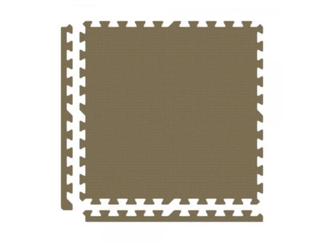 Alessco Interlocking Foam Premium Soft Floors Mat - 30' x 30' Set - Brown