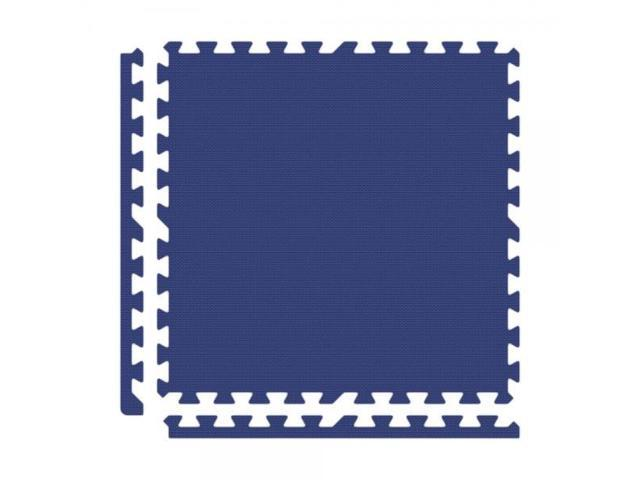 Alessco EVA Foam Rubber Interlocking Premium Soft Floors 20' x 20' Set Royal Blue