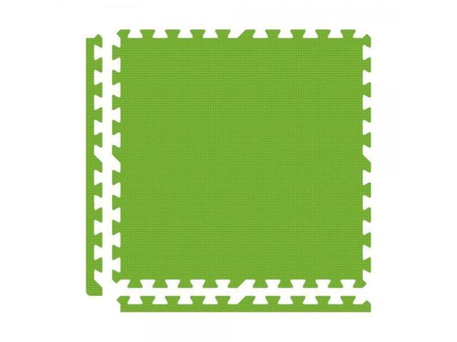 Alessco Interlocking Foam Premium Soft Floors Mat - 18' x 18' Set - Lime Green