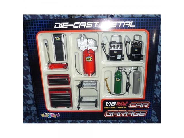 Die-cast Metal Car Garage Accessories 1:18 Scale by KinsFun ...