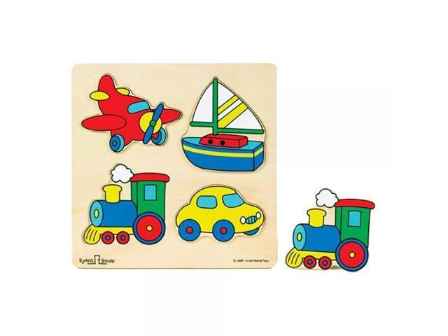 Small World Toys Ryan's Room  Wooden Puzzles - Vehicles 4 Pc.
