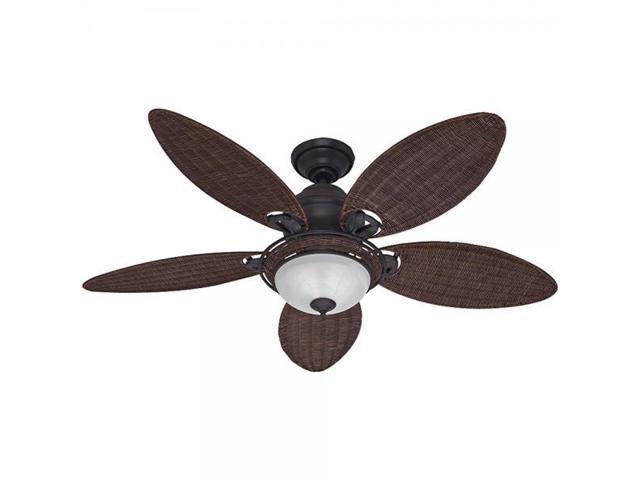 Hunter fan company 54095 caribbean breeze 54 inch ceiling fan with hunter fan company 54095 caribbean breeze 54 inch ceiling fan with five antique dark wicker mozeypictures Gallery