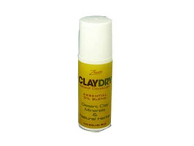 Clay Dry Roll On Lavender Chamomile - Zion Health - 3 oz - Roll On