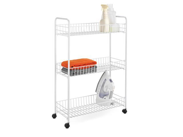 Honey-Can-Do 3-Tier Laundry Cart - White