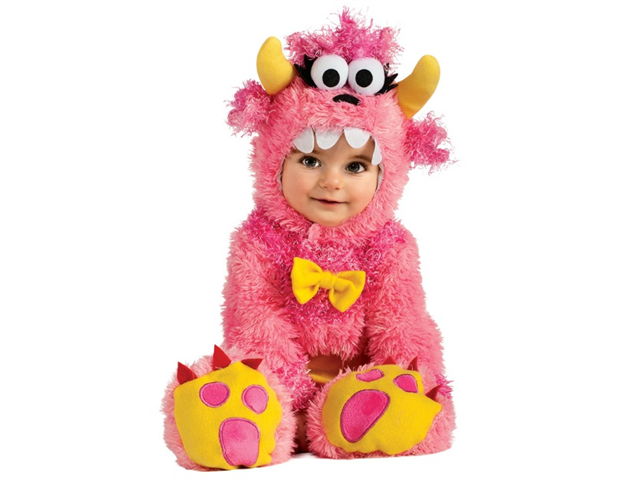 infant baby girls cute pink monster halloween costume - Baby Monster Halloween Costumes
