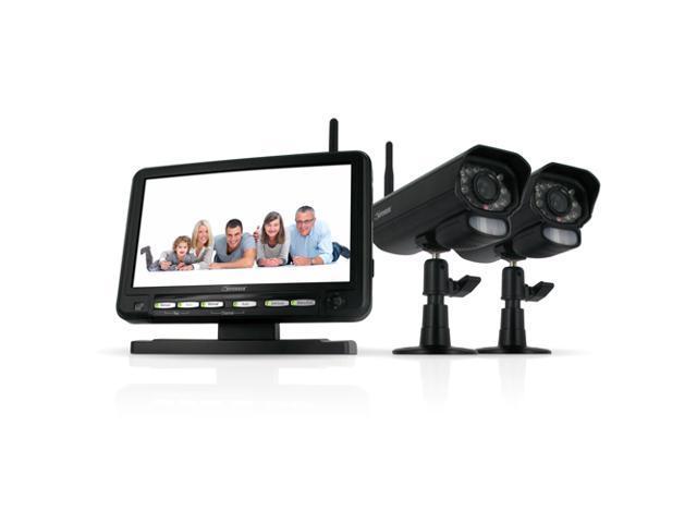 "Defender PX301-011 Digital Wireless DVR Security System w/ 7"" LCD Monitor, SD Card Recording & 2 Surveillance Cameras"