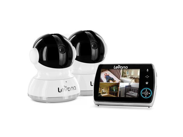levana keera 32016 3 5 lcd pan tilt zoom digital baby video monitor 2 camera system. Black Bedroom Furniture Sets. Home Design Ideas