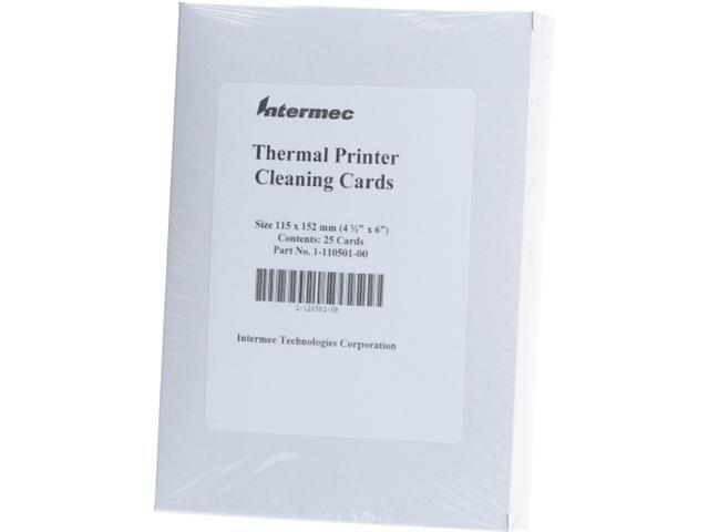 "INTERMEC 1-110501-00 INTERMEC 4.5"" X 6"" CLEANING CARD 25 PER CARTON PRICED PER CARTON"