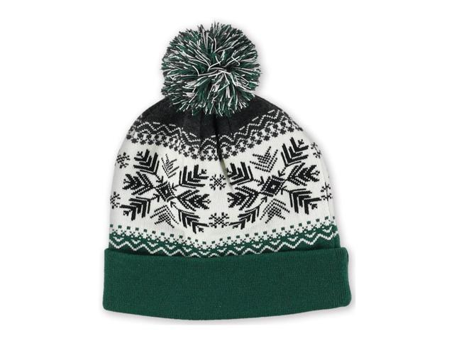 Aeropostale Mens Fair Isle Pom Beanie Hat 047 One Size - Newegg.com
