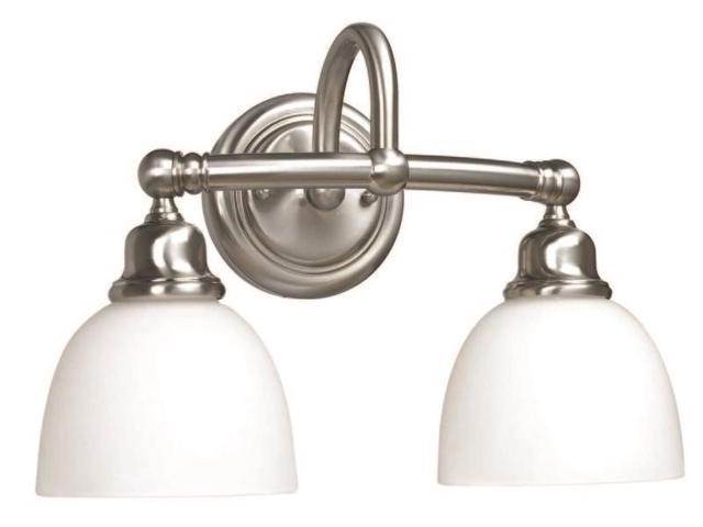 World Imports 3532-02 Amelia Clct Two-Lgt Wall Sconce, Satin Nickel