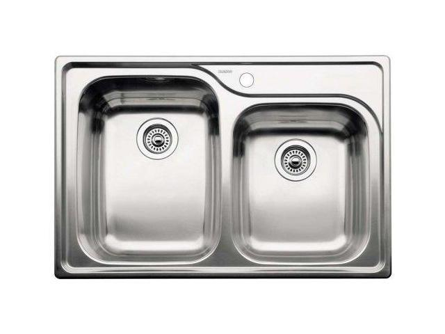 Blanco 440239 Supreme 1-3/4 Basin Drop In Stainless Steel Kitchen Sink ...